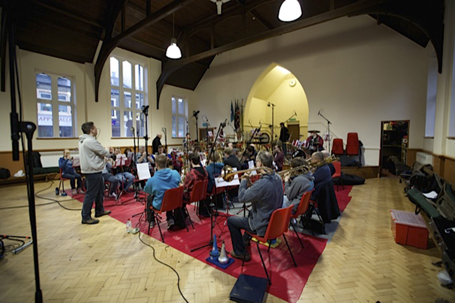 CD recording 2nd Rossendale Scout Group Band