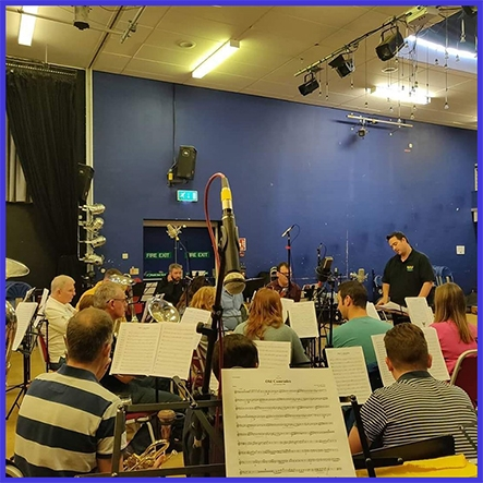 brass band CD recording of the Woodfalls Band at the Lighthouse Theatre Mountbattan School Romsey, October 2019
