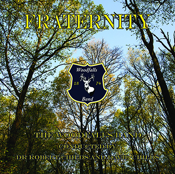 """alt=""""alt text"""" CD front cover 'Fraternity' Woodfalls Band brass band recording"""